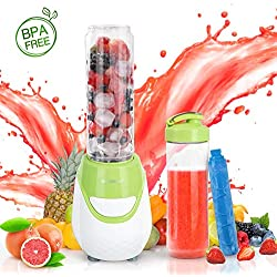 Aigostar Greenberry 30JHU - 600W Mini blender mixeur portable avec un tube réfrigérant. 0% BPA. Inclus 2 verres en Tritan de 600 ml et 2 couvercles. Idéal pour smoothies, milk-shakes et jus de fruits