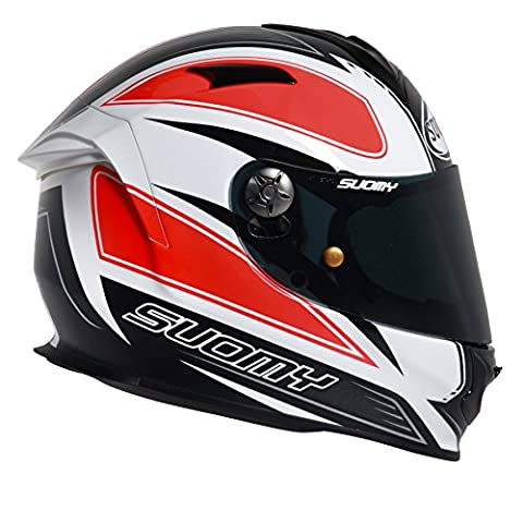 Suomy Casque Moto Intégral SR Sport Plain, Orange/Noir/Blanc, L