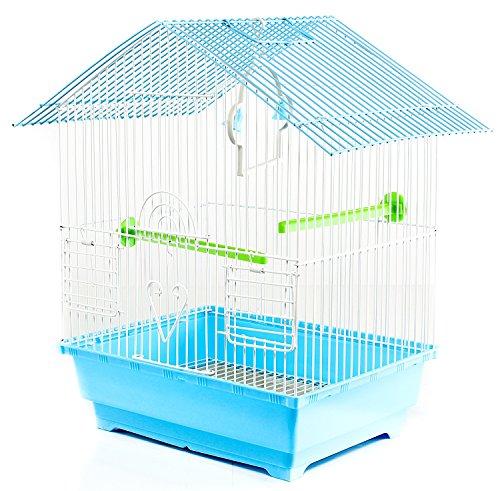 Käfig für Vögel aus Metall, komplett mit Zubehör Bird Cage 30x 23x 39cm zwei Futterspendern Und Schaukel Farben sortiert Tetto Dritto