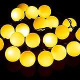 Haosen 50 leds 7 metri all'aperto luci stringa solare Luci di Natale a...