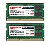 Komputerbay MACMEMORY 16GB (2X8GB) PC3-10600 PC3-10666 1333MHz SODIMM 204-Pin Laptop Speicher 9-9-9-24 für Apple Mac