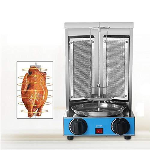 Macchina grill macchina in acciaio inox gas doner kebab automatica verticale rotante grill barbecue senza fumo a gas broiler
