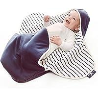Wallaboo Einschlagdecke Coco, Sehr praktische und Kuschelweiche Babydecke, 100% Baumwolle, 90 x 70 cm