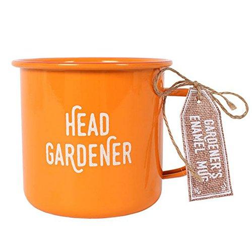 Tasse 'Head Gardener' orange Emaille Tasse