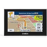OHREX Classic 521 Navegador GPS para coche auto de 5 pulgadas avisador de radaresasistencia de carril con actualizaciones gratis de por vida de mapas de Europa y Reino Unido