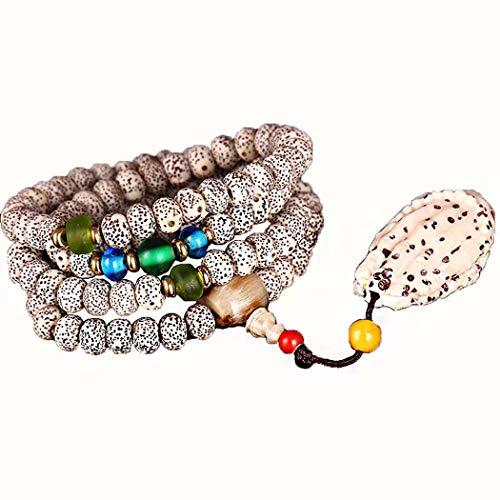 nkranz Armbänder, Natürliches Xingyue Bodhi Perlen Armband Mit Glas, Für Männer Und Frauen Unisex Perlen,6 * 8Mm ()