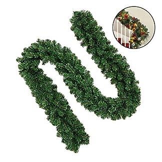 Mallalah 160″/ 2.7M Guirnalda de Pino Artificial Guirnalda de Navidad Decoraciones de Navidad