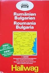 Roumanie, Bulgarie. Echelle : 1/ 1 000 000
