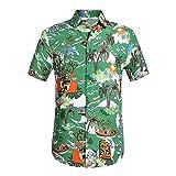 Luckycat Funky Hawaiihemd   Herren   Kurzarm   Front-Tasche   Hawaii-Print   Strand Palmen Meer Funky Hawaiihemd   Herren   Kurzarm   Fronttasche   Hawaii-Print   Verschiedene Designs