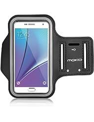 MoKo Brassard Samsung S7 edge Sports Sweatproof Etui Armband Case pour le Jogging/ Gym/ Sport, Confortable avec sangle réglable, Noir