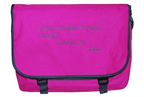 KringsFashion®, Borsa a tracolla donna verde Lime/Grau Pink/Grau
