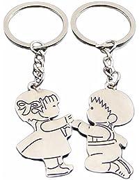 Blingg Boy & Girl In Love Keychain Gift For Men & Women
