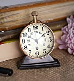 Style Antique Retro Vintage-Inspired World Globe Brass Metal Craft Table Clock Home Decor - 2.5 Inch best price on Amazon @ Rs. 490