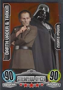 Star wars force attax-movie cards-cartes simples 221 et dark vador tarkin addition-power allemand