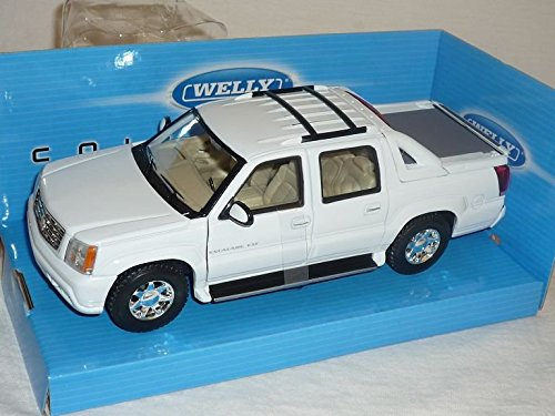 Cadillac Escalade Pick-Up EXT Weiss GMT800 2. Generation 2001-2006 1/24 Welly Modell Auto (2001 Cadillac Ca)