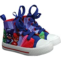 PJ MASKS Childrens High Ankle Canvas Trainers - Spring Summer Collection