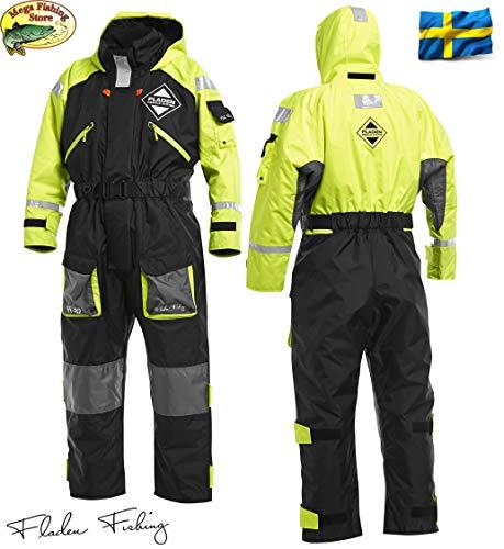 Fladen Fishing Rescue System 845XY Schwimmanzug - Floatinganzug Überlebensanzug Norwegen - Flotation Overall - Einteiler (M / 70-90kg / 167-175cm)