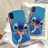 Coque de téléphone en Silicone Souple avec Coutures Bleues pour Enfants, garçons et Filles iPhone 5 / 5s / Se Slim Stitch