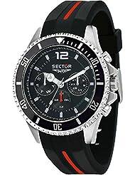 Sector reloj negro 43 mm multifunción 230 R3251161034 Marina