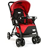 LuvLap Galaxy Baby Stroller and Pram (Red/Black)