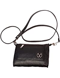 Ystore Genuine Leather Sling Bag - Black - B06XQL15XG