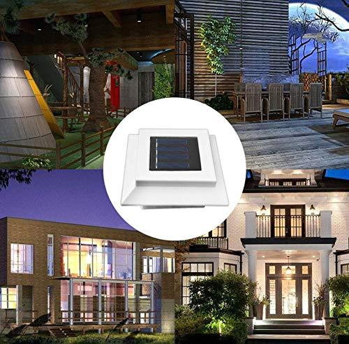 Angetriebene Geführte Zaun-Lampen-Weißes Licht-Zaun-Gutter-Garten-Yard-Dach-Wand-Lampe Des Großhandels Im Freien -