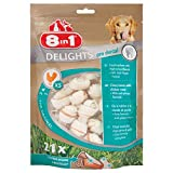 8 in 1 Delights Value Bag XS - Snack Masticabile con Carne di Pollo Avvolta In Pelle di Bufalo - 21pz