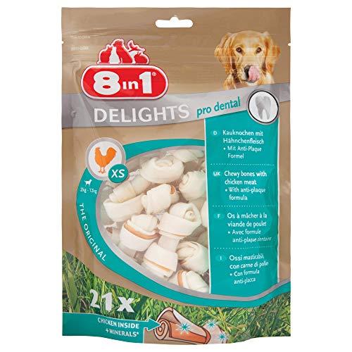 8 in 1 Delights Value Bag XS - Snack Masticabile con Carne di Pollo Avvolta In Pelle di Bufalo - 21pz