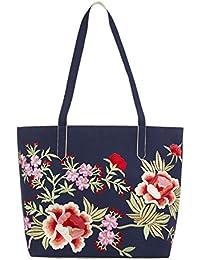 Monsoon Cabas motif floral brodé Ester - Femme