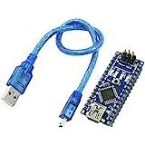 SODIAL(R) Nano V3.0 AVR ATmega328 P-20AU Carte Module Noir Bleu w USB Cable