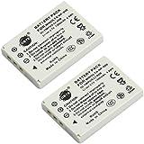 DSTE 2-Pieza Repuesto Batería para OLYMPUS Li-80B T-100 T-110 X-36 AGFA 4Ti AVANT S4 S6 KYOCERA EZ 4033 ACER CS-6531-N CS-5530 AOSTA DA 4092 DA 5091 DA 5091 DA 5092 DA 5094 BENQ DC C500 DC E43