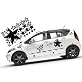 Sterne | 32 Teile XXL Autoaufkleber Set Auto Aufkleber Sterne | 80 Farben | TOP | KB270
