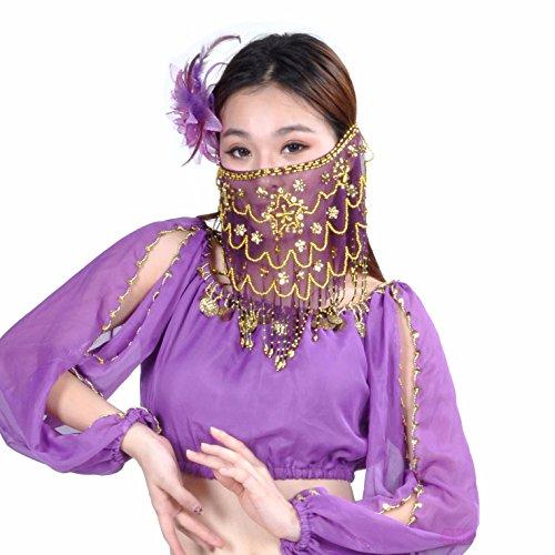 Best Dance Gesichtsschleier zum Bauchtanzen für Damen, mit -