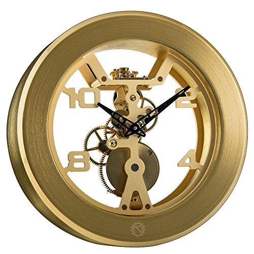 matthew-norman-wind-gold-mens-womens-mineral-glass-clock-503648001