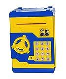 #10: Toyzstation Cartoon Character Money Safe Password Coin Piggy Kiddy Savings Bank (Yellow)