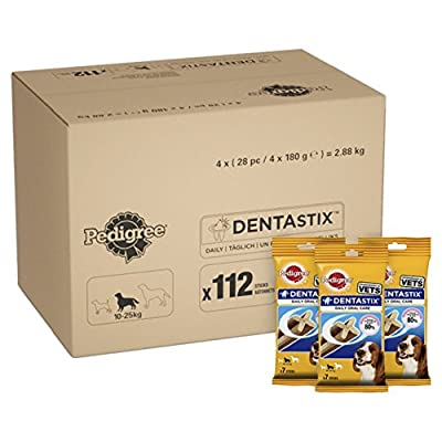 Pedigree DentaStix Daily Dental Chews Dog, 112 Sticks, Medium