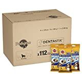 Pedigree DentaStix 1 x Täglich Hundeleckerli für Mittelgroße Hunde, Kausnack mit Huhn- und Rindgeschmack Gegen Zahnsteinbildung für Gesunde Zähne, 1er Pack (1 x 112 Stück)