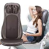 ROTAI Massagesitzauflage Rückenmassagegerät mit Wärmefunktion Massagematte Elektrisch Rückenmassage Shiatsu Rollmassage Sitzkissen, Auto Massage mit Vibration Massagegerät für Nacken Rücken
