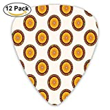 Casino Roulette Cartoon Pattern Nights Vacations Parties Enjoyment Crowded Guitar Picks 12/Pack