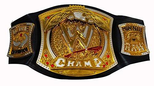 Sunshine WWE Championship Belt with Spinning WWE Symbol + FREE WWE ACTION FIGURE