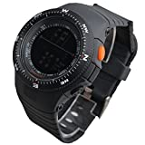 OUMOSI–Verde Militare Cinturino in gomma LED digital-watch uomini orologi sportivi Maschio ore tavolo Relogio Masculino nero