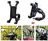 #5: TZS - 360 Degree Rotation Universal Motorbike Scooter Activa Mobile Holder Rearview Mirror Mount Stand for All Mobile (XL Size - Fits Till 7 inches Screen Mobile)