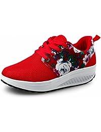 Sacuda el Zapato Zapatos de Los Deportes Casuales Del Pino de la Cuesta de la Sacudida , rojo , EUR37