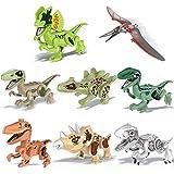 Bescita Dinosaurier DIY Spielzeug Bausteine | DIY Jurassic Mitglied Pädagogische Spielzeug, Dinosaurier Geschenk 8 Pack