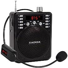 xiaokoa amplificatore vocale con microfono cuffie wireless Bluetooth Speaker Radio