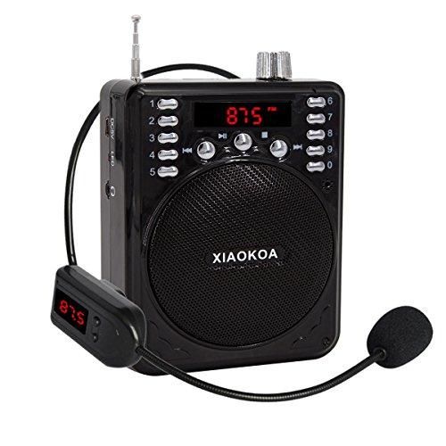 newgood Amplificador de voz portátil bluetooth con micrófono inalámbrico de auriculares, reproductor de mp3(SD, radio FM, TF tarjeta/unidad flash) Grabadora para profesores, Coach Tour Guide Exterior Actividad Host
