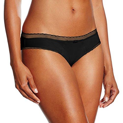 Lovable Slip Microfibra Leggera My Daily Comfort, Mutande Donna, 004-Nero, 4 / L