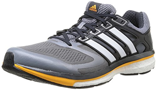 adidas Supernova Glide Boost 6 Herren Laufschuhe Grau (Grey/Core White/Neon Orange)