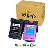 MSR - Cartuchos de Tinta remanufacturados HP 301XL 301 XL para impresoras HP Deskjet 2540 1510 3050...