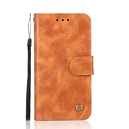 Chreey Schutzhülle für Apple iPhone 5 / 5S Se, Leder, mit Schlitz für Kreditkarten - Aluminium-sicherheits-geldbörse